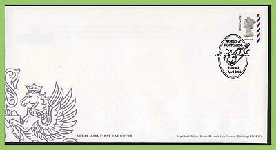 G.B. 2004 Worldwide Postcard NVI defin.  Royal Mail First Day Cover, Falmouth