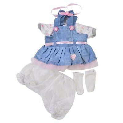 6pcs Reborn Baby Girl Doll Clothes Set Newborn Clothing Suit Doll Accessory