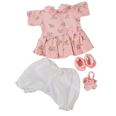 5pcs Reborn Baby Girl Doll Clothes Set Newborn Clothing Suit Doll Accessory