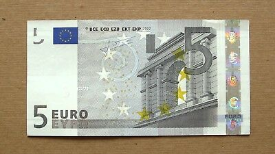 5 euros banknote eur authentic paper money