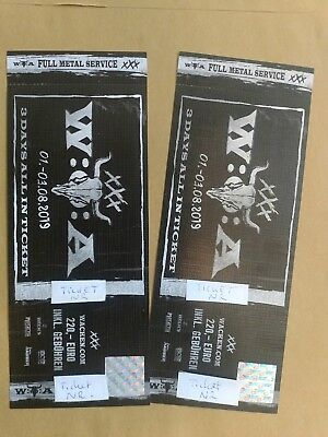 Wacken 2019 2 Tickets Wackööön