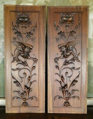 Antique 19thc Gothic Oak Carved Panel Carved Medieval Gothic Figure Black Forest