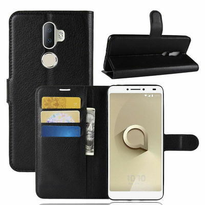 For Alcatel 3V 2018 Wallet Leather Case Flip Book Cover Pouch with Card Pocket