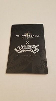Sdcc 2018 Udon Street Fighter Monster Hunter Metal Card Limited Edition!
