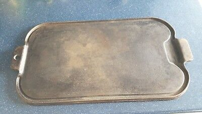 "VINTAGE/ANTIQUE WAGNER WARE CAST IRON GRIDDLE A   17"" x 9 3/4"""