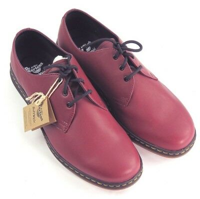 e2702aa378b Dr Martens Cavendish Men s Lite Cherry Red Leather Lace Up Shoes Size 11 NIB
