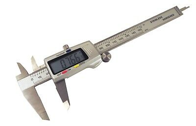 "Digital Calipers 6"" / 150 mm SAE and Metric Stainless Steel Inside Outside OD ID"