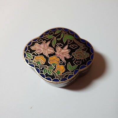 49# Alte China Cloisonne Dose