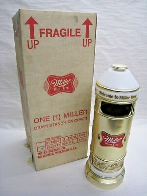 Vintage 1983 Miller High Life Draft Stanchion Cover NOS with Original Box *NEW*