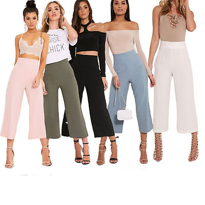Womens  High Waisted Culottes