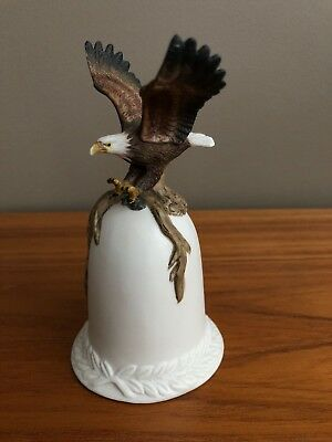 Vintage American Bald Eagle Ceramic Collectible Bell
