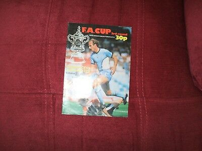 Coventry City V Worcester City Fa Cup 8-1-1983