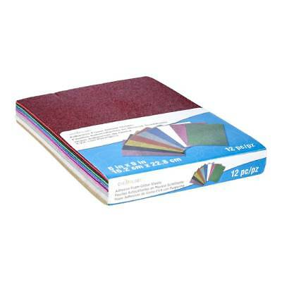 NEW Creatology Foam Sticky Glitter Sheets 12 Pack By Spotlight