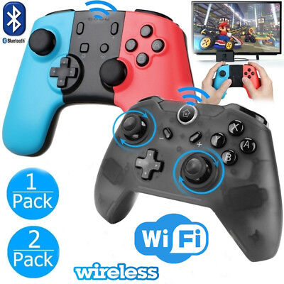 2x Wireless / Wired Controller Gamepad Joypad Remote For Nintendo Switch Console