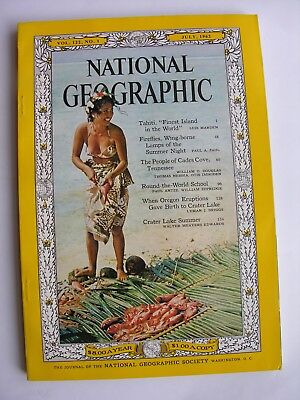NATIONAL GEOGRAPHIC July 1962Tahiti Crater Lake Oregon Cades Cove Tennessee