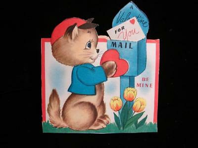 """Vintage """"just For You My Valentine!!"""" Valentine Greeting Card"""
