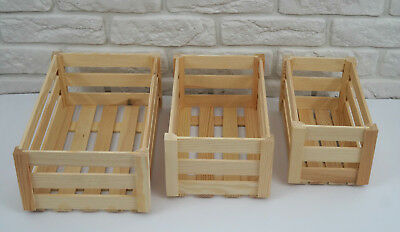 WOODEN CRATE PLAIN WOOD DECOUPAGE CRATES 3 sizes GIFT herbs box personalized