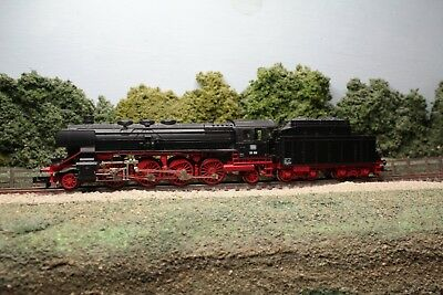 Fleischmann 7138 Class BR 39 2-8-2 of the DB in black & red livery