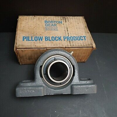 "SH 1-7/16"" Boston Gear Pillow Block 2 Bolt Pillow A-UC207-107 Ball Bearing"