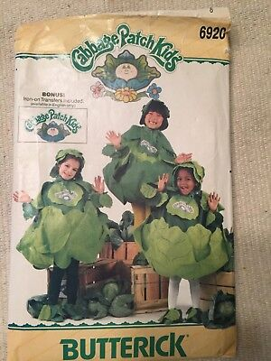 Vtg Butterick 6920 sewing pattern CABBAGE PATCH KIDS one size 2-6x cut transfer