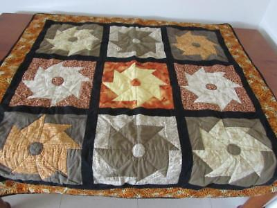 Handmade PATCHWORK QUILT THROW Couch Rug Bed