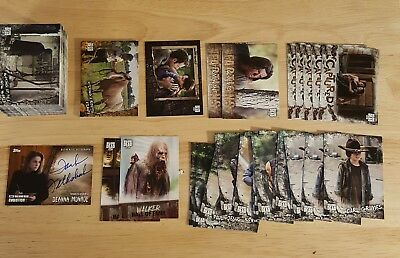 2018 Walking Dead Road to Alexandria Base Set + inserts + autograph