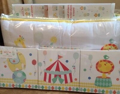 Mothercare Roll Up Roll Up Bed In A Bag, 3 Canvas Pictures & Wall Stickers