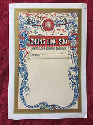 Chung Ling Soo Letterhead – Mounted On Archival Paper And Ready To Frame!
