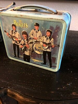 beatles original Lunch Box With Thermos