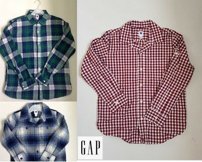 Boys shirt GAP checked long sleeve age 4 5 6 7 8 9 10 11 12 13 14 years RRP £18+