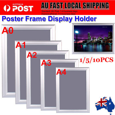 A0A1A2A3A4 Poster Clip Holders Snap Frames Displays Retail Wall Notice Boards AU
