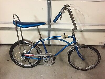 """Sears Spyder 20"""" Vintage 5 Speed Banana Seat Bike W/""""The Fast One"""" Tires."""