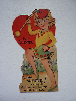 """VNTG """"Be My Valentine And Set My Heart A-Twirling, Too"""" Valentines Day Card"""