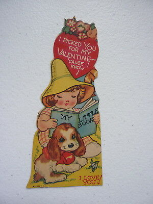 """VNTG """"I Picked You For My Valentine Cause I Know"""" Valentines Day Card"""
