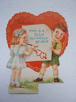 """VNTG """"This Is A Sign You Should Be Mine"""" Foldable Valentines Day Card"""