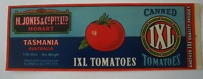 Vintage Apple Box Crate Tin Label IXL Tasmania Canned Tomatoes