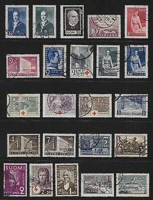 FINLAND mixed collection No.21, 1930-1942, used