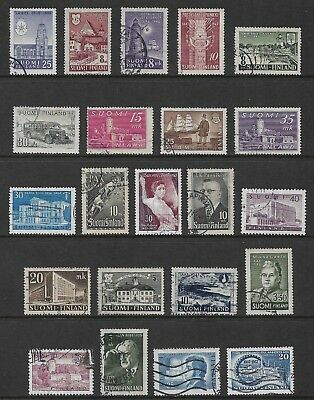 FINLAND mixed collection No.22, 1944-1957, used