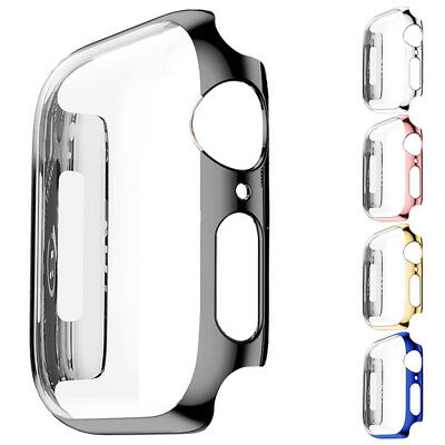 Ultra Thin PC Plating Cases Watch Protector Bumper Case Cover For Apple Watch4 #
