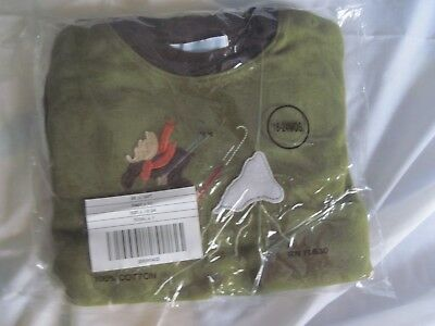 NWT Olive/Brown Boys Janie & Jack w/ Moose Long Sleeve Shirt Size 18-24 Months