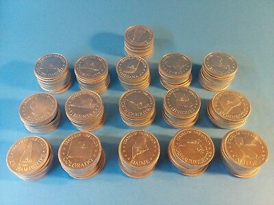 Lot of 160 Vintage SHELL *STATE of the UNION* Coin Game tokens 1968 Gas Station