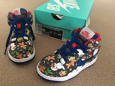 Nike X Concepts Xmas Ugly Sweater Christmas Sb 9c Dunk Air Toddler Kids Shoes