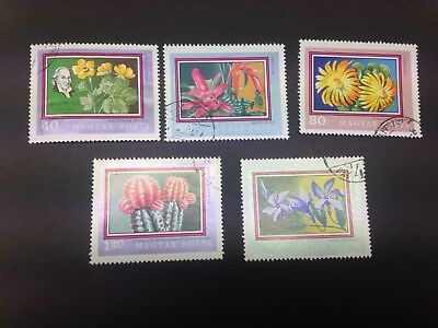 Hungary Flowers Stamps 1971