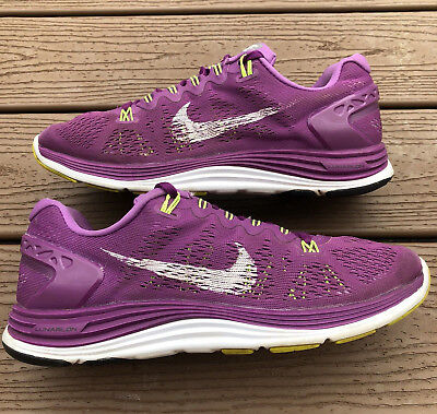 newest 2016e 52db0 ... shield grey pink 1bf44 c3001  spain nike lunarglide 5 shoes womens sz  8.5 bright grape white volt 599395 501 running 74a01