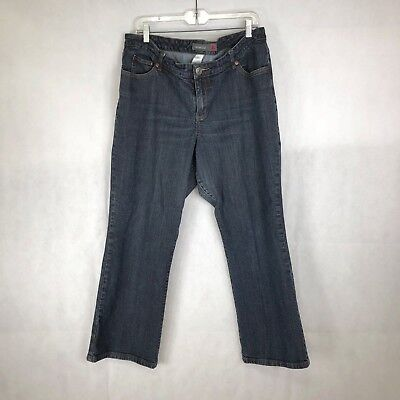 Venezia By Lane Bryant Women's Jeans Boot Cut Blue Dark Wash Stretch Size 20 P