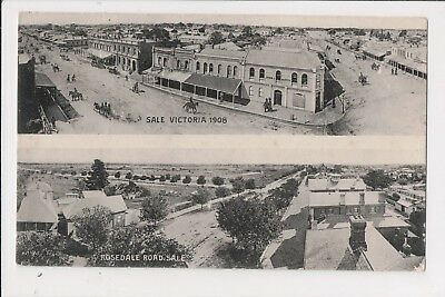 Sale, Victoria, 1908 & Rosedale Road, Sale, early Postcard.