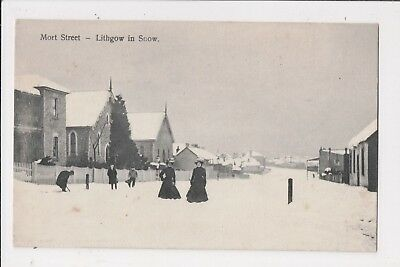 NSW - Mort Street - Lithgow in Snow.