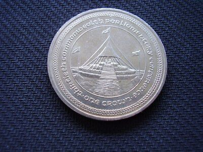 Isle of Man one crown coin dated 1984