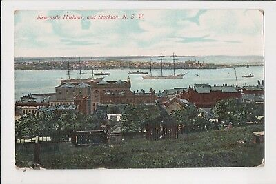 NSW - Newcastle Harbour & Stockton - Early Postcard.