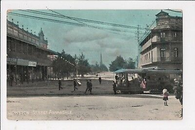 NSW - Johnston Street, Annandale. Early postcard with early tram.